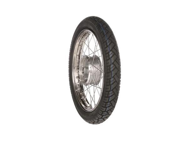 """Komplettrad vorn 1,6x16"""" Edelstahlfelge + Edelstahlspeichen + Reifen Vee Rubber 094"""