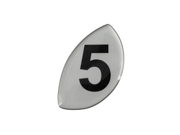 Klebefolie Ziffer -5-  Motor, für Kupplungsdeckel (5-Gang)