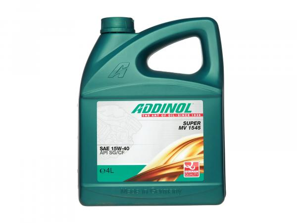ADDINOL PKW engine oil SUPER MV 1545 SAE 15W-40, 4 L canister