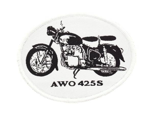 """Patch, Aufnäher """"AWO 425 S"""" schwarz/weiß"""