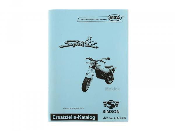 Spare parts catalogue Mokick Spatz issue 1999
