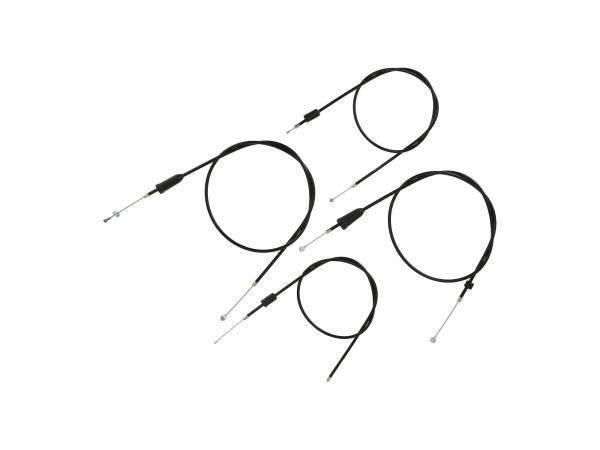 10069814 Set: 4 Bowdenzüge schwarz, Trommelbremse - MZ ETZ 125, 150 - Bild 1