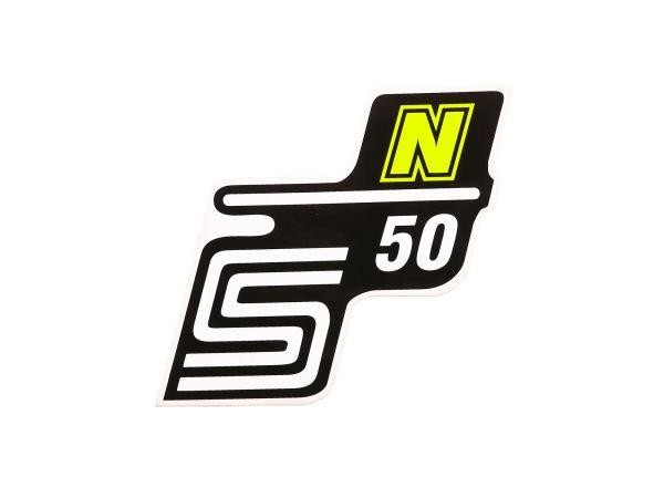 """Klebeschriftzug - """"S50 N"""" Neongelb"""