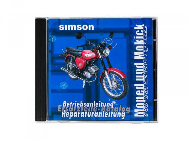 CD - SIMSON Moped and Mokick original documents Simson S51, S50, SR50, SR4