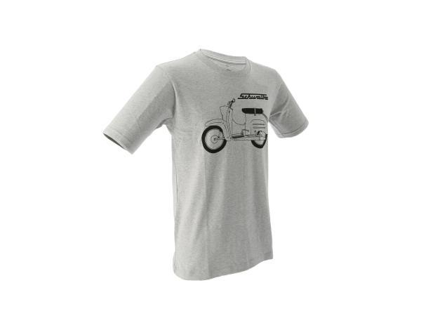 "K10000137 Basic-Shirt ""Schwalbe"" - Hellgrau meliert - Bild 1"