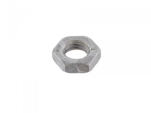 Hexagon nut M6x0,75 low form, bright - DIN439B