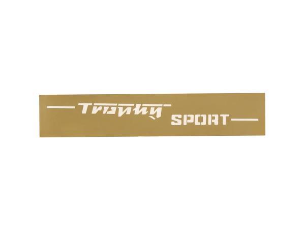 Schriftzug (Folie - Schablonierfolie) Trophy Sport