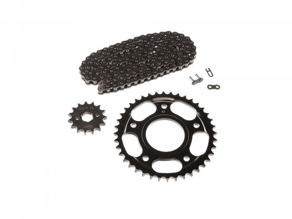Small sprocket drive set (chain set) for Simson Schikra 125 (open)