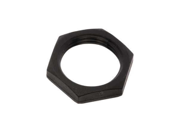 Mutter - Sechskantmutter M22 x 1,5 - Kunststoff, schwarz, Feinwinde