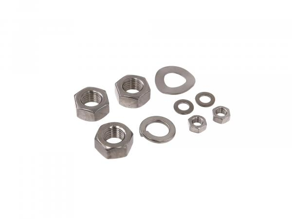 Set: Nuts and washers in stainless steel for rear wheel drive SR50, SR80
