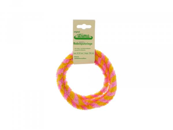 Hub cleaning rings WÜMA yellow/pink (set 2x 76cm for motorcycle)