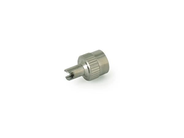 10001552 Ventilkappe Metall, mit Werkzeug und Dichtring - Bild 1