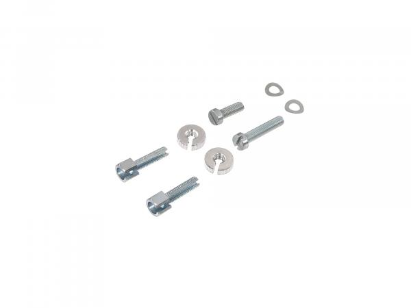 Set: Adjusting screws, standard parts for operating elements Socket clamping piece - Simson Schwalbe KR51, Spatz SR4-1, Star, SR4-2, Sperber SR4-3, Habicht SR4-4