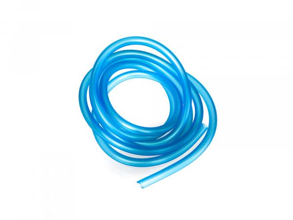 Fuel hose, blue-transparent, 2 meters, Ø 5x8,2mm