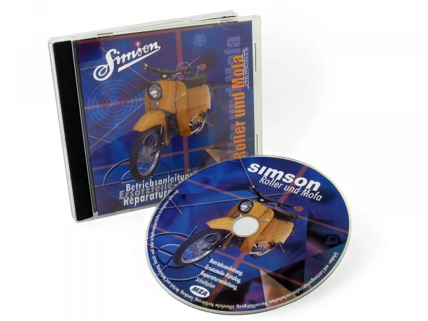 CD, SIMSON scooter and moped ORIGINAL DOCUMENTS (repair instructions, spare parts catalogues, operating instructions)