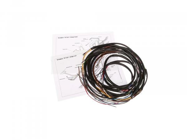 Cable harness (with wiring diagram) - for IWL TR150 Troll