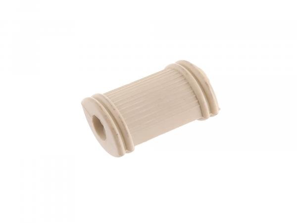 Foot switch rubber RT125 cross ribbed (colour ivory)