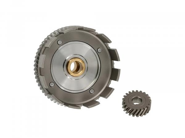 Set: clutch basket + drive pinion, 62/21 tooth - for Simson S70, S83, SR80