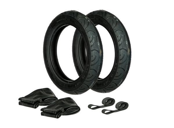 GP10000308 Set: 2x Reifen 3.00 x 12 Heidenau K61 + 2x Schläuche + 2x Felgenband - Bild 1