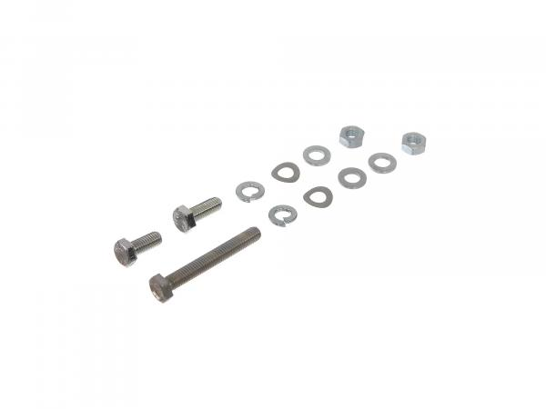Set: Hexagon bolts exhaust system/exhaust system Schwalbe KR51/1, KR51/2