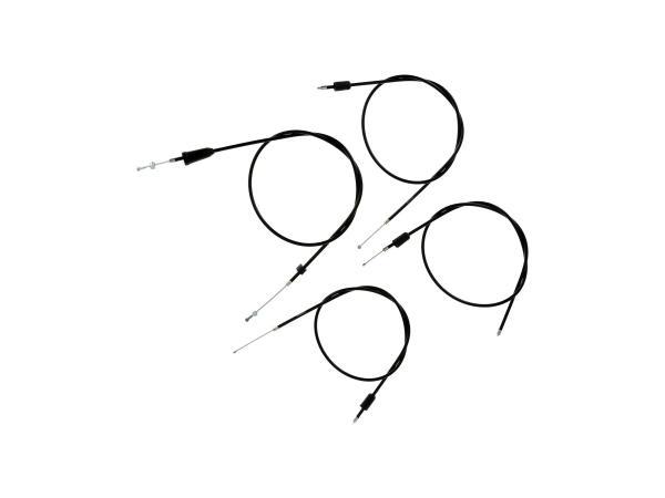 10069817 Set: 4 Bowdenzüge schwarz, Scheibenbremse, Öldosierung - MZ ETZ 125, 150 - Bild 1