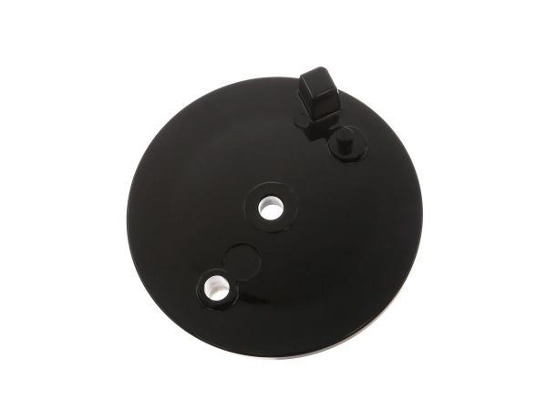 Bremsschild hinten, schwarz, ohne Bohrung f. Bremskontakt - Simson S51, S70, S53, S83, KR51/2