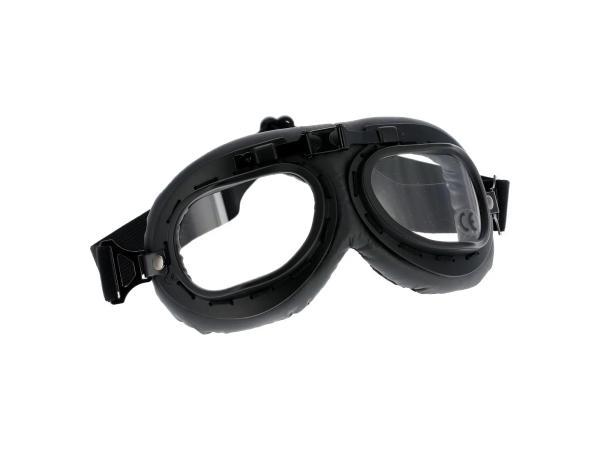 10069520 Motorradbrille Pilotenbrille in Schwarz - Bild 1
