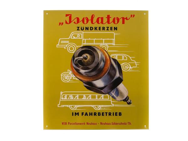 "10005625 Blechschild ""Isolator Zündkerzen TOP"" - Bild 1"