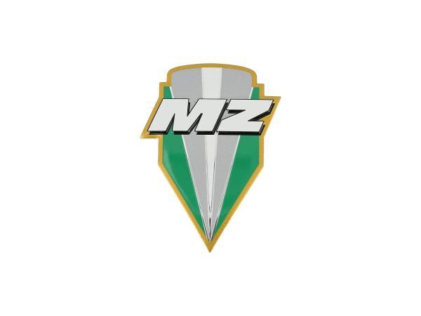 10070026 Plakette - MZ-Logo, aus Aluminium - Bild 1