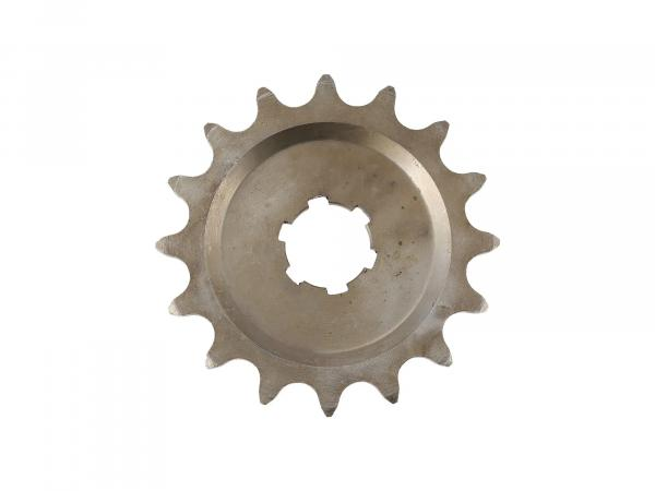Small chain wheel, 15 tooth - for MZ ES125, ES150, TS125, TS150, RT125 - IWL SR56 Wiesel