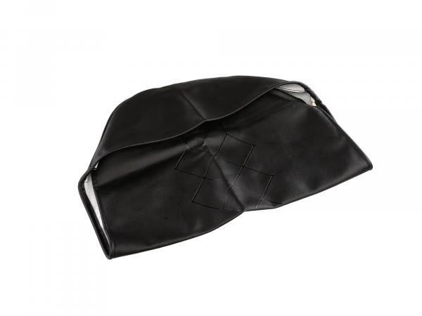 seat cover black, original embossing, new design - for MZ ES175, ES250