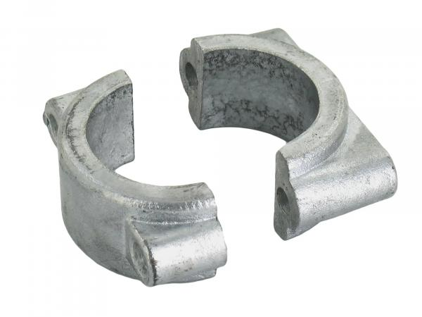 Set: Fitting and clamping bridge for mudguard, front - Simson S50, S51, S70, SR50, SR80