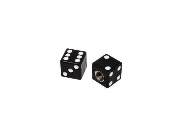 Set: 2x valve cap cube, black