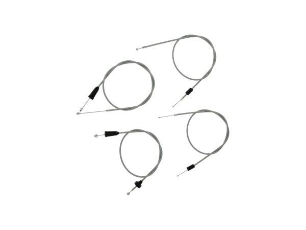 10069809 Set: 4 Bowdenzüge grau, Flachlenker - MZ ETS 250 - Bild 1