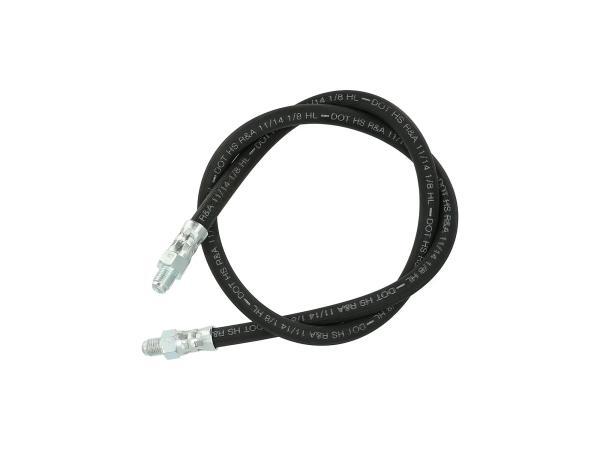 10063561 Bremsschlauch, Bremsleitung mit geradem Anschluss für ETZ (Länge 81cm) - Bild 1