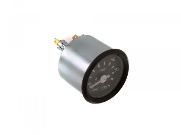 Tachometer mit Blinkkontrolle, mit Logo, 100km/h-Ausführung