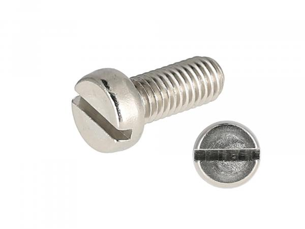 Slotted cheese head screw, stainless steel M5x12 - DIN84
