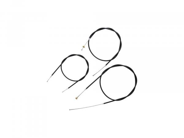 Bowdenzug-Set in Schwarz - für AWO Sport