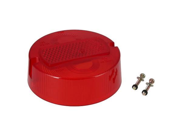 10001667 Rücklichtkappe rund, rot, Ø100mm - Simson S50, KR51/2 Schwalbe - Bild 1