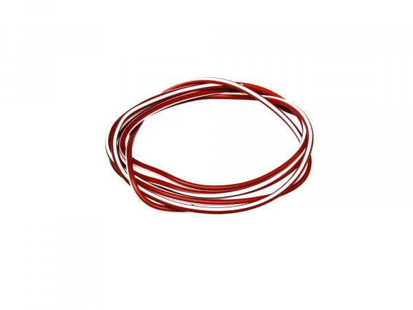 Cable - Red/White 0.50mm² Automotive cable - 1m