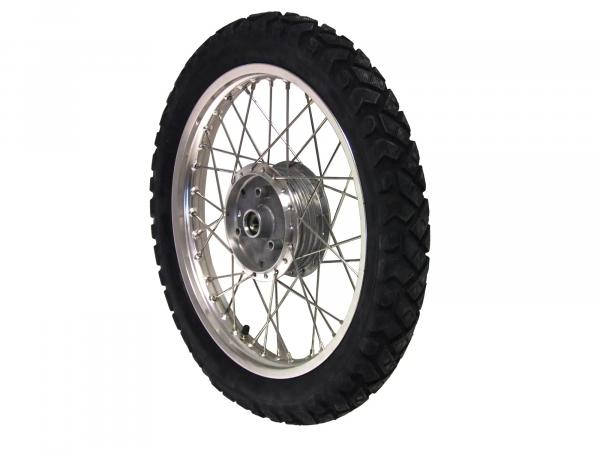 "Komplettrad hinten 1,5x16"" Alufelge + Edelstahlspeichen + Reifen Vee Rubber (wie K42)"