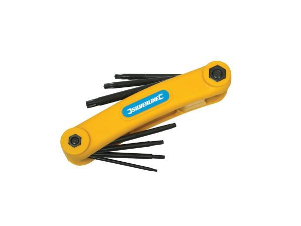Torx-Schlüssel-Klappwerkzeug, 7-teilig