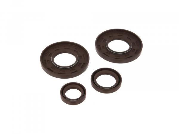 Set: Oil seals motor, brown, double lip - for MZ TS250