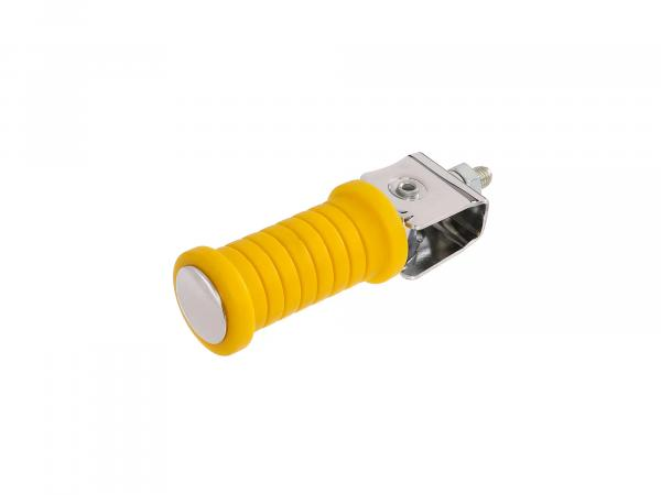 Passenger footrest yellow/chrome (suitable for motorcycle MZ)