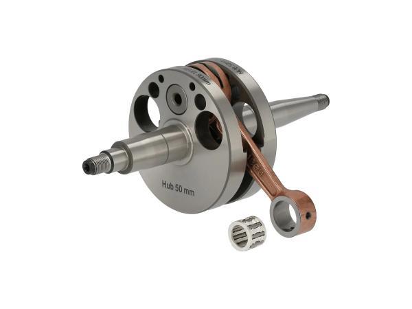 10070495 Sportkurbelwelle für 110ccm Umbau, Hub 50 + Pleuel 90mm, für Motor M500-700 - Bild 1
