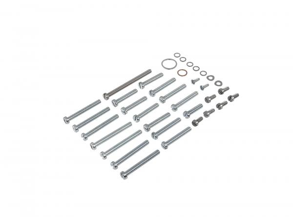 Set: cylinder screws, slot for engine (housing and cover) Schwalbe KR51, Spatz SR4-1, Star, SR4-2, Sperber SR4-3, Habicht SR4-4