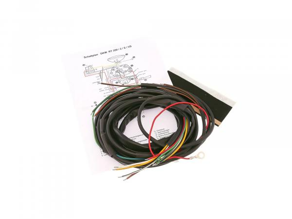 Cable harness suitable for RT250/2/S/VS (DKW) (with wiring diagram)