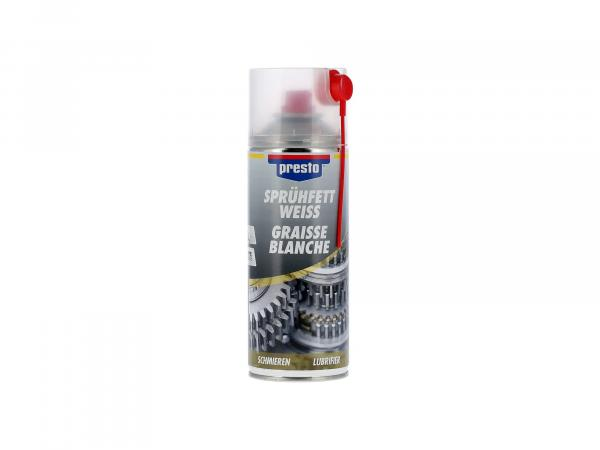 Presto spray grease, white - 400ml