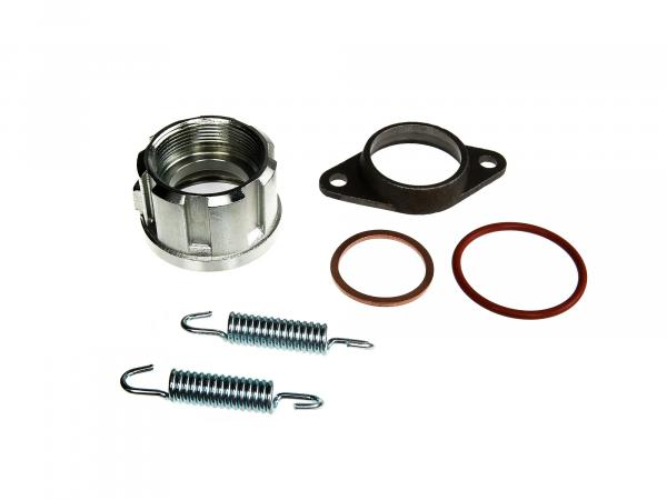 Set: Calotte with accessories complete for 32mm elbow - for Simson S50, S51, S53, S83, SR50, and others.