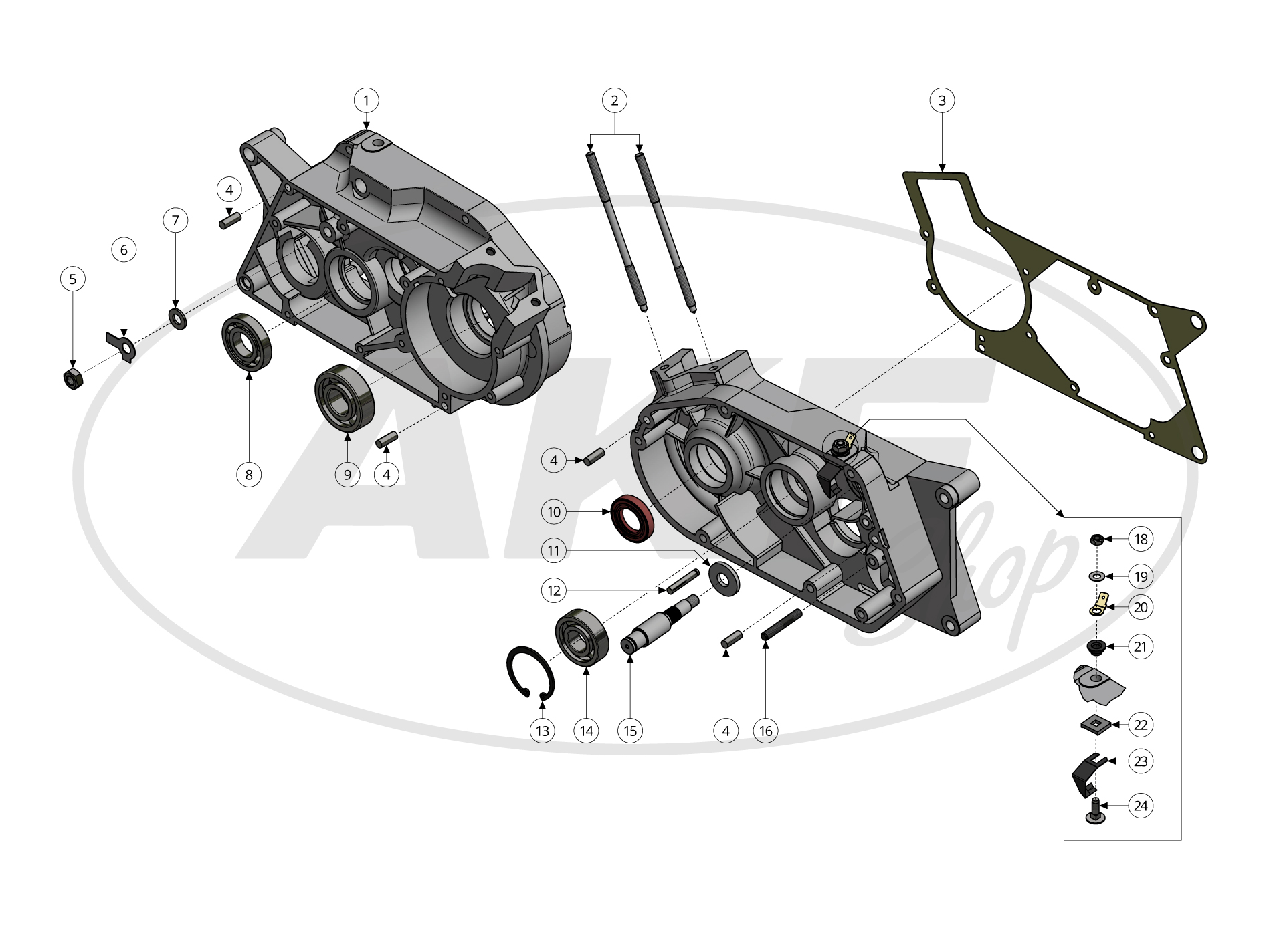SR50 SR80 S70 Zuganker Zylinderstehbolzen M6 x 126 mm Simson S51 KR51//2